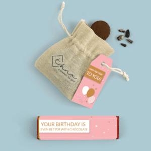Inhoud Brievenbuspakketje Verjaardag Pink Birthday Pakket Tony Chocolonely Bloemzaden