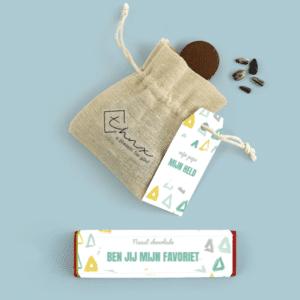 Inhoud Brievenbuspakketje Cadeau voor Hem Vaderdag Happy Triangle Pakket Tony Chocolonely Parkeerschijf