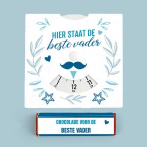 Inhoud Brievenbuspakketje Cadeau voor Hem Vaderdag Moustache Pakket Tony Chocolonely Parkeerschijf