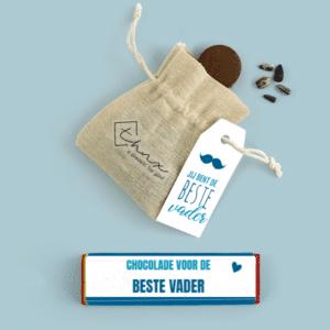 Inhoud Brievenbuspakketje Cadeau voor Hem Vaderdag Moustache Pakket Tony Chocolonely Bloemzaden