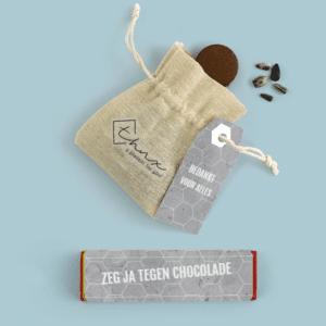 Inhoud Brievenbuspakketje Bedankt Concrete Pakket Tony Chocolonely Bloemzaden