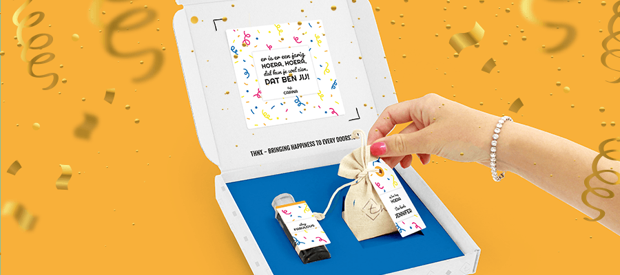 Inhoud Brievenbuspakketje Verjaardag Cadeau Confetti Janzen Bloemzaden