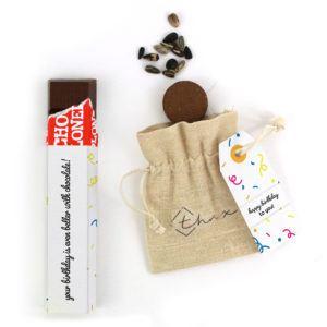 Inhoud Brievenbuspakketje Verjaardag Cadeau Confetti Tony Chocolonely Bloemzaden
