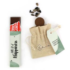 Inhoud Brievenbuspakketje Zomaar Falling Leaves Pakket Tony Chocolonely Bloemzaden