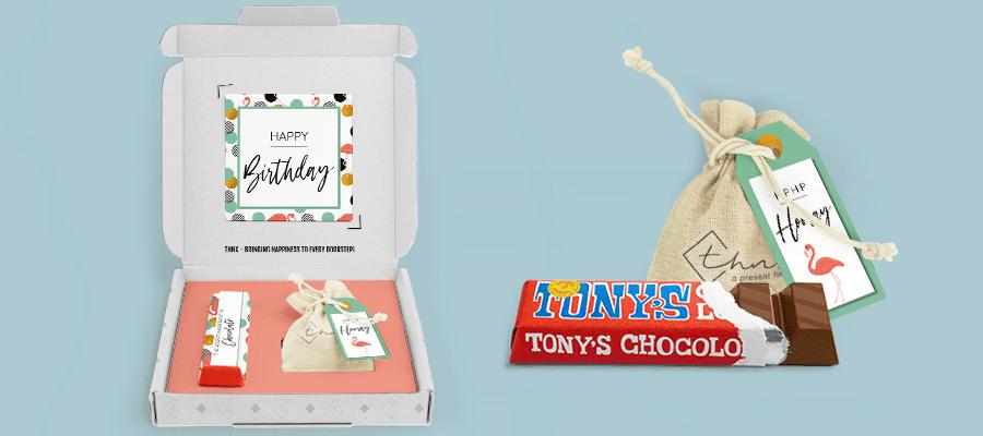 Chocolade cadeau Tony's Chocolonely THNX