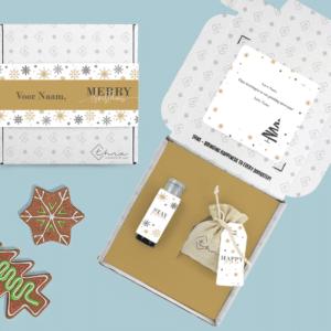 Inhoud Brievenbuspakketje Kerst Christmas Sparkle Pakket Janzen Handcrème Kerstboomzaadjes