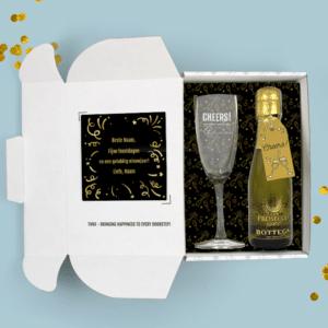 Inhoud Brievenbuspakketje Kerstcadeau Eindejaarsgeschenk Cheers Pakket Prosecco Bottega