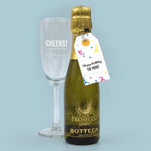 Inhoud Brievenbuspakketje Verjaardag Feest Pakket Prosecco Bottega