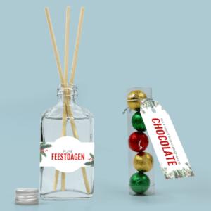 Inhoud Brievenbuspakketje Kerst Holiday Branch Pakket Geurstokjes Chocolade