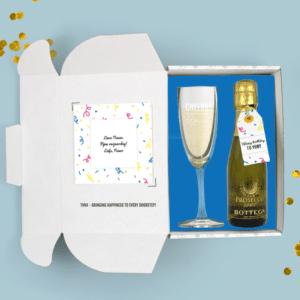 Inhoud Brievenbuspakketje Verjaardag Confetti Pakket Prosecco Bottega