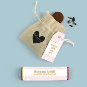 Inhoud Brievenbuspakketje Valentijn Romantic Pakket Tony Chocolonely Bloemzaden