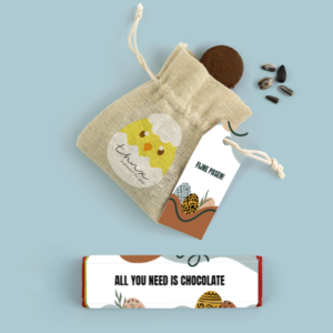 Inhoud Brievenbuspakketje Pasen Modern Easter Pakket Tony Chocolonely Bloemzaden