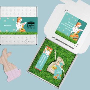 Inhoud Brievenbuspakketje Pasen Bunny Pakket Tony Chocolonely Bloemzaden
