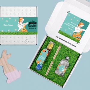 Inhoud Brievenbuspakketje Pasen Bunny Pakket Geurstokjes Chocolade Paaseitjes