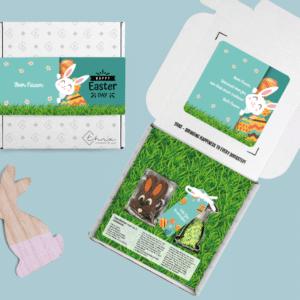 Inhoud Brievenbuspakketje Pasen Bunny Pakket Koeksteker Choco Paashaasjes