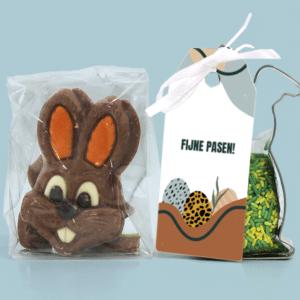 Inhoud Brievenbuspakketje Pasen Modern Easter Pakket Koeksteker Choco Paashaasjes