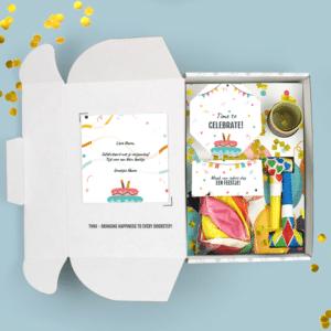 Brievenbuspakketje Verjaardag Cadeau Feestpakket Celebrations Ballonnen Confetti