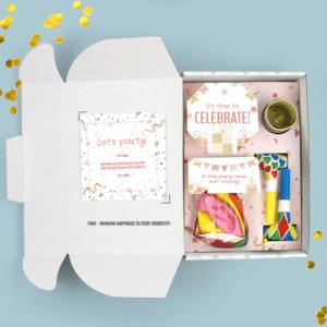 Inhoud Brievenbuspakketje Verjaardag Cadeau Feestpakket Celebrations Ballonnen Confetti Maxi