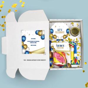 Inhoud Brievenbuspakketje Verjaardag Feestpakket Celebrations Ballonnen Confetti