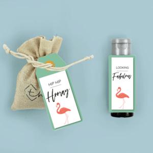 Inhoud Brievenbuspakketje Flamingo Pakket Janzen Handcrème Bloemzaden