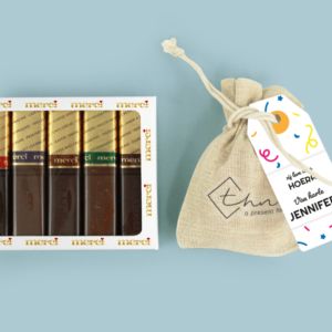 Inhoud Brievenbuspakket Verjaardag Merci Chocolade Bloemzaden Cadeau