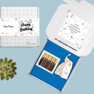 Inhoud Brievenbuspakket Confetti Cadeau Verjaardag Merci Chocolade Bloemzaden