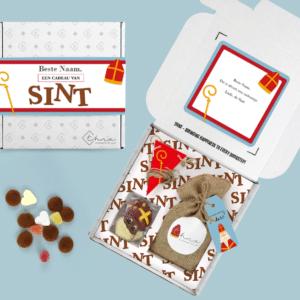 Inhoud Brievenbuspakketje Sinterklaas Chocolade Snoep Pepernoten Vlaggenlijn