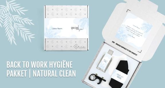 Overzicht Back to Work Hygiëne Pakket Natural