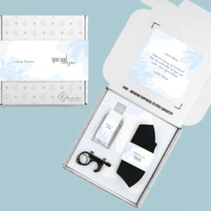 Inhoud Brievenbuspakketje Back To School Hygiëne Pakket Natural Clean Mondkapje Handgel Clean Hands Tool