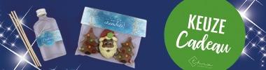 Brievenbuspakketje Kerst Cadeau Geurkstokjes en Martinez Chocolade
