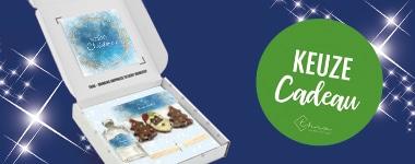 Kerst Keuzecadeau Pakketten Geurstokjes met Chocoladeballetjes en Geurstokjes met Martinez Chocolade