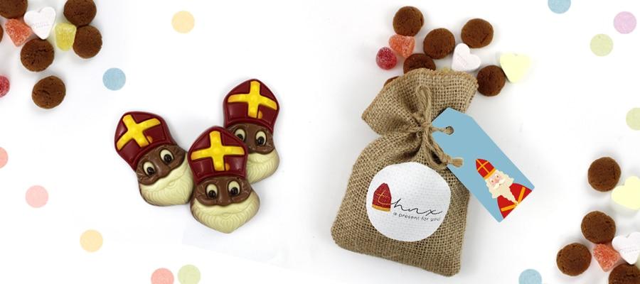 Brievenbus Cadeau Sinterklaas Zakelijk Relatiegeschenk voor Sinterklaas Pepernoten Chocolade
