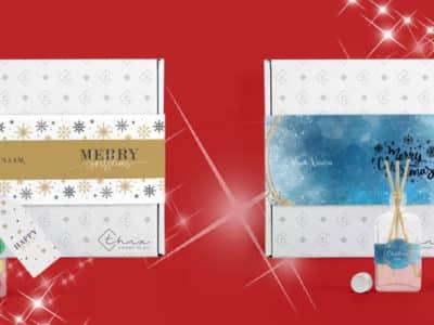 Brievenbuspakketje Kerst Eindejaarsgeschenken Kerstpakketten Christmas Sparkle Christmas Night Geurstokjes Chocoladeballetjes Martinez Chocolade