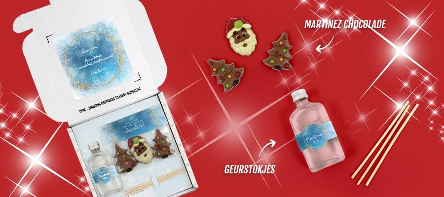 Brievenbuspakketje Kerst Eindejaarsgeschenken Kerstpakketten Christmas Night Martinez Chocolade Geurstokjes