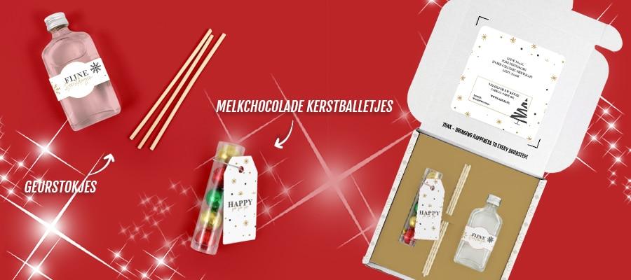 Brievenbuspakketje Kerst Eindejaarsgeschenken Kerstpakketten Christmas Sparkle Geurstokjes Chocolade