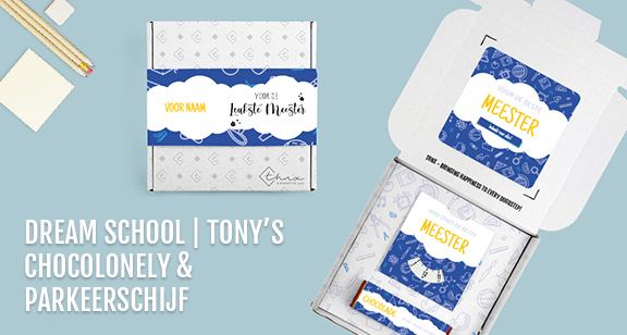 Brievenbuspakketje Dag van de Leraar Dream School Tony Chocolonely Parkeerschijf