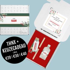 Brievenbuspakketje Kerst Keuze Cadeau Holiday Branch Geurstokjes Chocolade