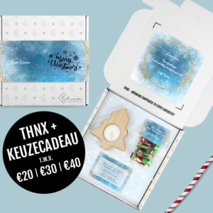 Brievenbuspakketje Kerst Keuze Cadeau Christmas Night Kerstboomkaars Zakje Candy Snoep Hangemaakt Cadeaukaart